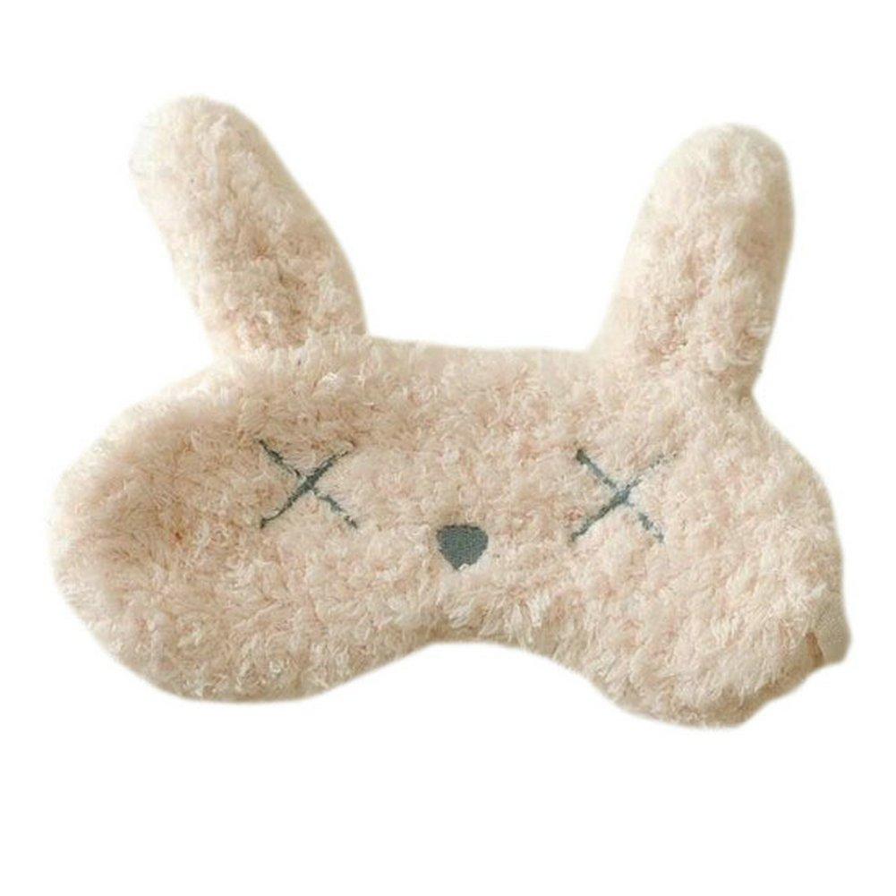 Ayygiftideas Lovely Plush Animal Sleeping Eye Mask Rabbit Cat Eye Patch (Cat)