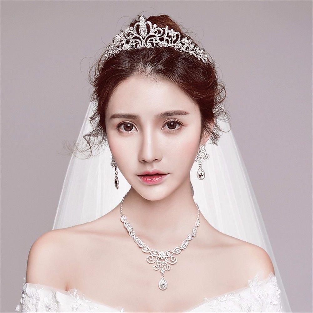 Wedding Dress Accessories.Amazon Com Bride Headwear Korean Jewelry Hair Accessories Wedding