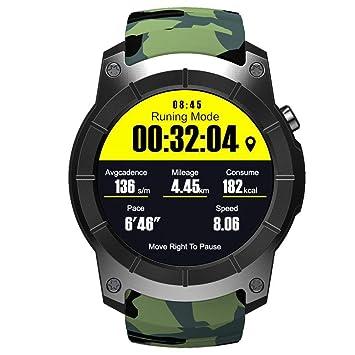 OOLIFENG GPS Reloj Inteligente Pulsómetros Tarjeta SIM Comunicación Bluetooth 4.0 Deportes Relojes para Android iOS,Camo: Amazon.es: Deportes y aire libre