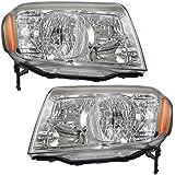 Driver and Passenger Headlights Headlamps Replacement for Honda SUV 33150SZAA01 33100SZAA01