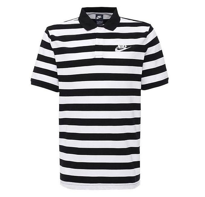 Nike M NSW Polo Pq STRP BLD Mchp Camiseta de Manga Corta, Hombre ...