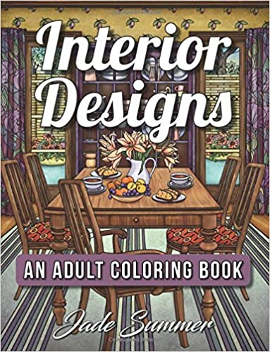 Interior Designs: An Adult Coloring Book with Beautifully Decorated on house sketch, house drawing, house letters book, house coloring worksheet, house coloring paper,