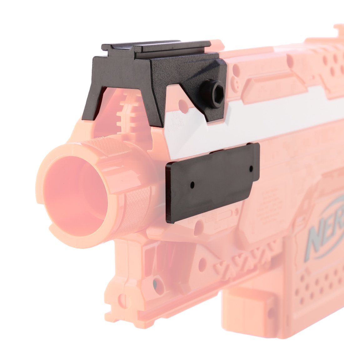 Mecotech Worker Front and Side Attachment Set for Nerf Stryfe (Black)