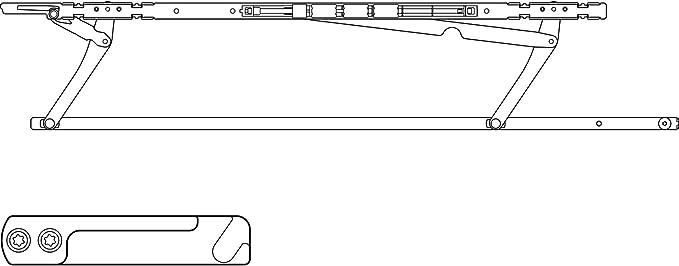 gauche Hautau Atrium SP Confort gleitscheren-Set FFB 750-900 mm
