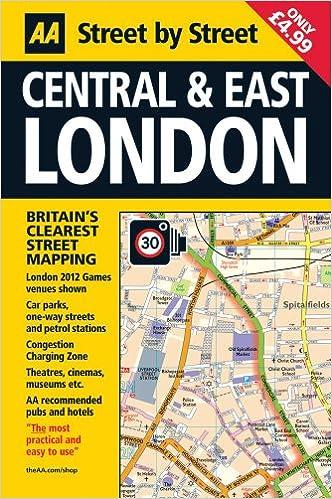 street map london central east aa street by street amazoncouk aa publishing 9780749572464 books