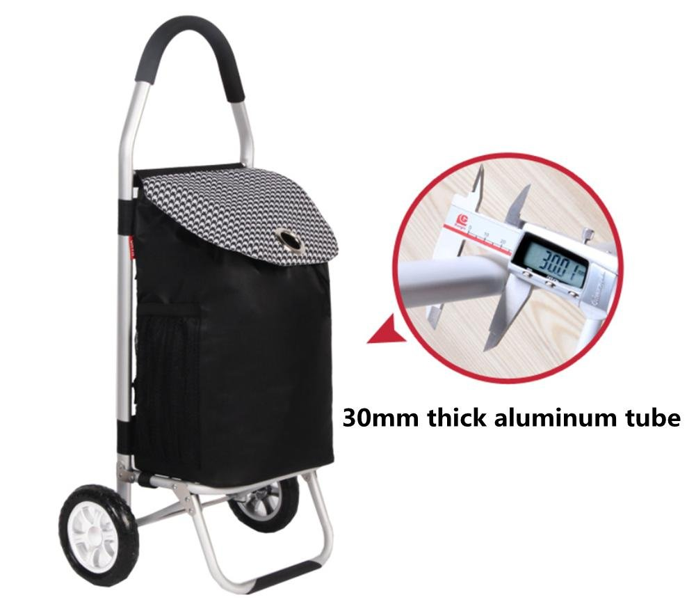 Amazon.com: Effortsmy 65L Foldable Shopping Trolley Portable Aluminum Alloy Trolley, Pink: Home & Kitchen