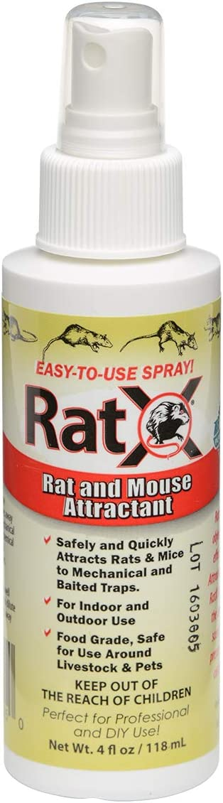 EcoClear Products 774324-6D, RatX All-Natural Non-Toxic Rat and Mouse Attractant, 4 oz. Non-Aerosol Spray