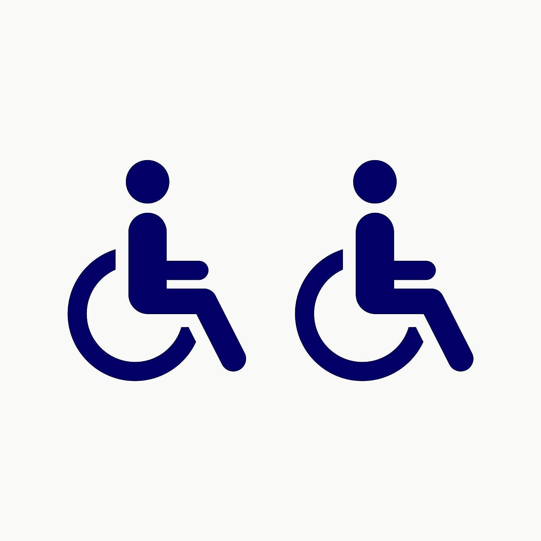 Autodomy Pegatinas Discapacitado Minusválido Pack 2 Unidades para Coche Furgoneta Camión (Azul)