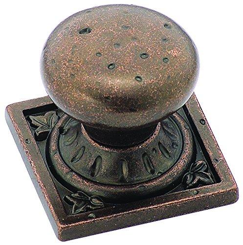 Amerock BP4484-RBZ Ambrosia Euro Stone SQ 1-1/4-Inch Knob, Rustic (Ambrosia Cabinet Pull)
