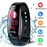 Hokonui Fitness Tracker, Activity Tracker Smart Heart Rate/Blood Pressure/Sleep Monitor Pedometer Sport Band IP67 Water-Resistant Touch Color Screen Wristband Watch OLED Display for IOS & Android