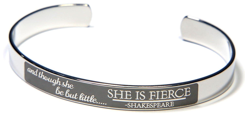 Joyful Sentiments She is Fierce Cuff Bracelet