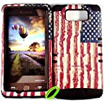 Cellphone Trendz High Impact Hybrid Rocker Case for Motorola Droid Maxx XT1080M / Droid Ultra XT1080 – American Flag Hard Shell on Gel (Black)