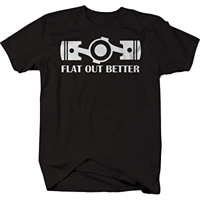 556 Gear Flat Out Better Boxer Engine Pistons Racing Tshirt - 4XL: Automotive