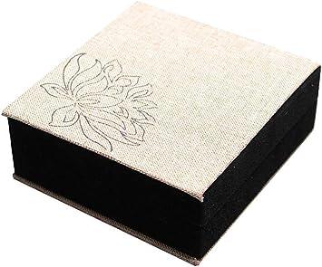 AG Joyero de madera Flor caliente Lino Colgante Caja Pulsera Pulseras Caja de collar Caja de regalo Caja de almacenamiento de lino,Pulsera Bo *: Amazon.es: Bricolaje y herramientas