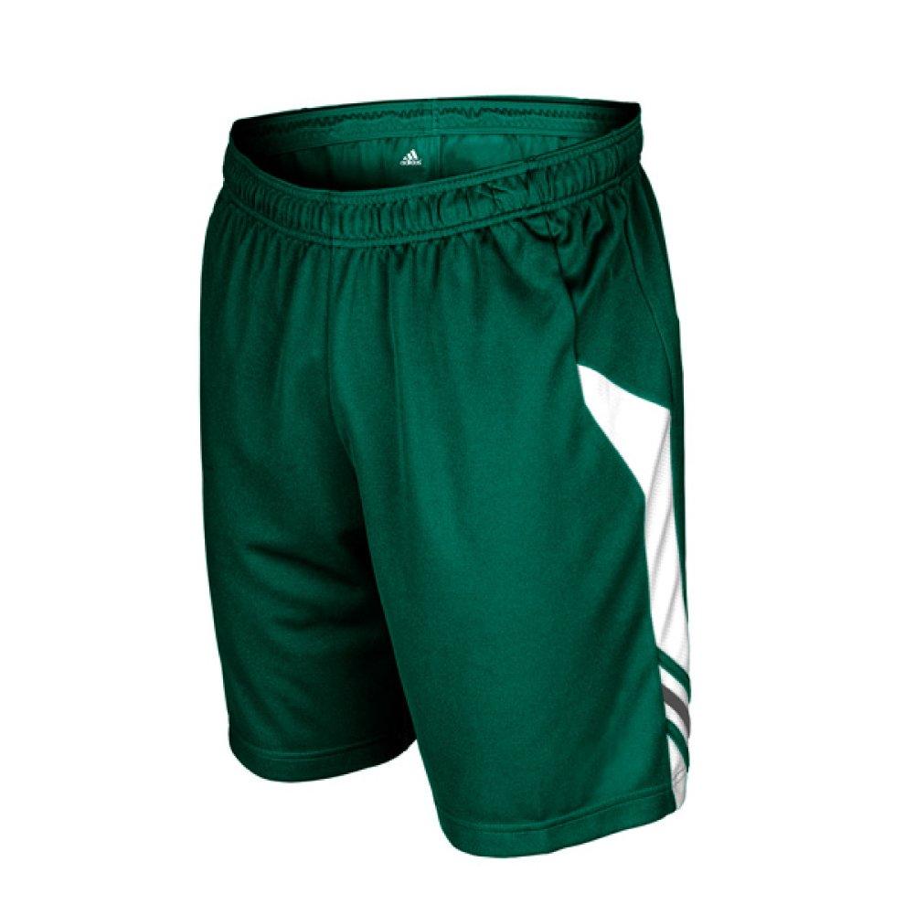 AdidasメンズClimaliteユーティリティSoccer Short B00GJWJ3QK 3L グリーン-ホワイト グリーン-ホワイト 3L