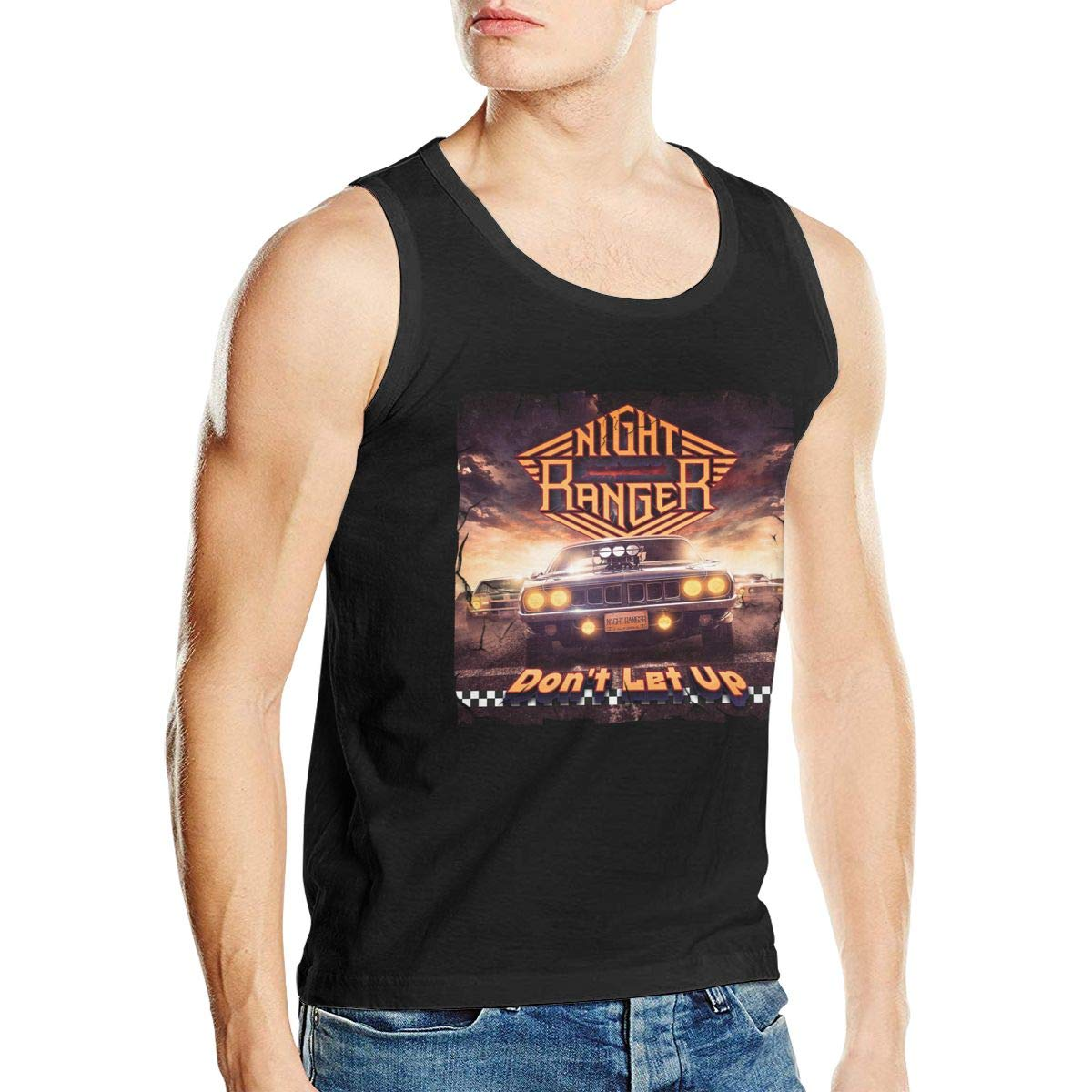 Mans Night Ranger Dont Let Up Cool Summer Cotton Music Band Fans Sleeveless Tank T-Shirt