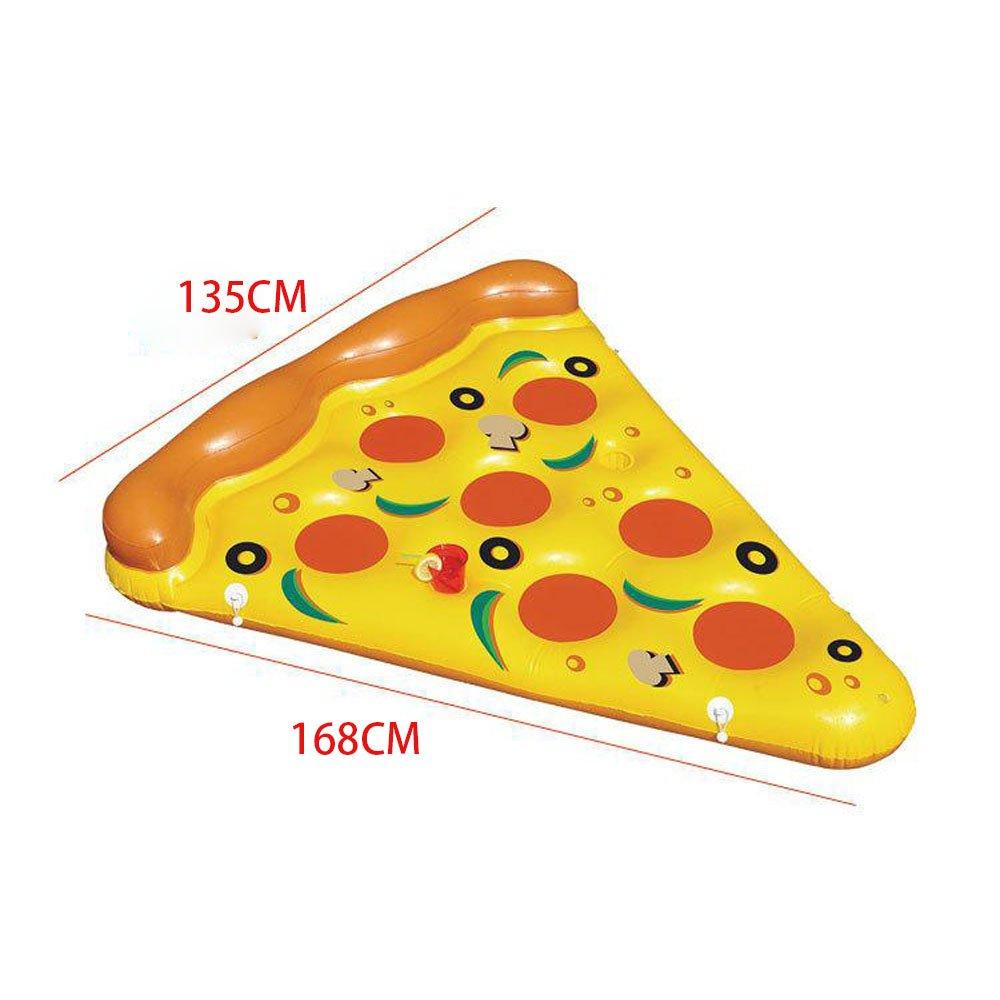 YGJT Piscina Flotador Gigante Pizza Slice Pool Flotador Cama PVC ...