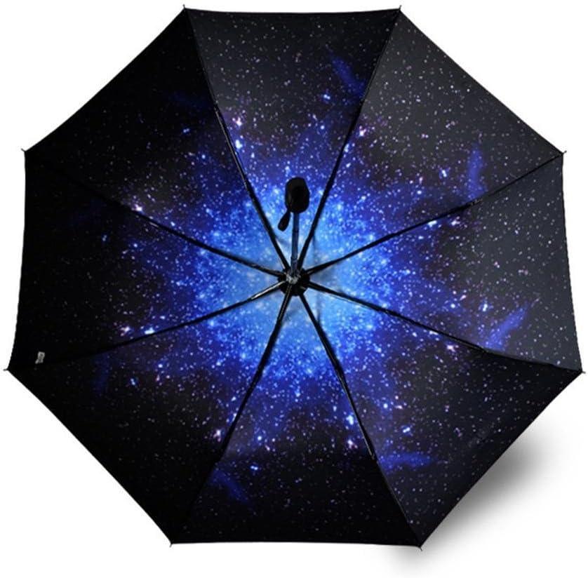 BiuTeFang Umbrellas Sky pattern sun umbrella UV protection vinyl umbrella folding umbrella umbrella black umbrella 55x98cm