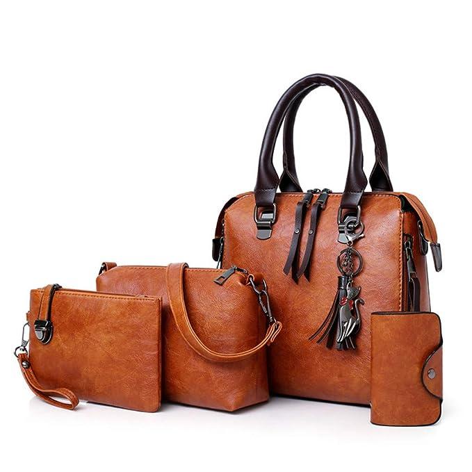 Amazon.com: Bolsas de mano para mujer, 4 unidades, con borla ...