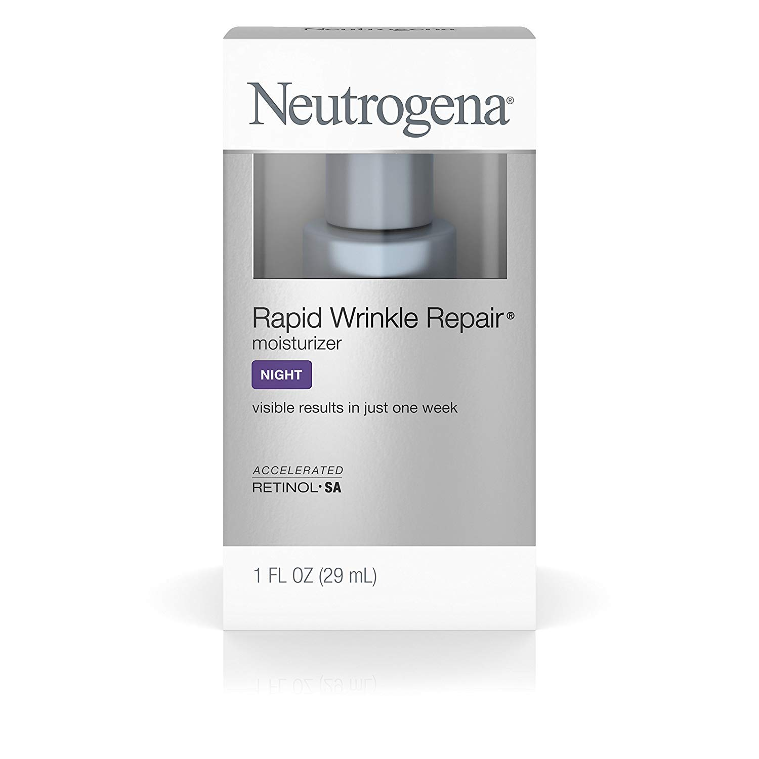Neutrogena Rapid Wrinkle Repair Moisturizer 1 Ounce Night (29ml) (2 Pack)