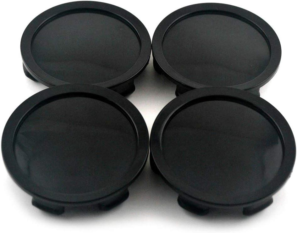Set of 4 75mm(2.95in)/70mm(2.75in) Wheel Hub Center Caps Black Base for M608 M242 81310409 Superforgiata Wheel Rims