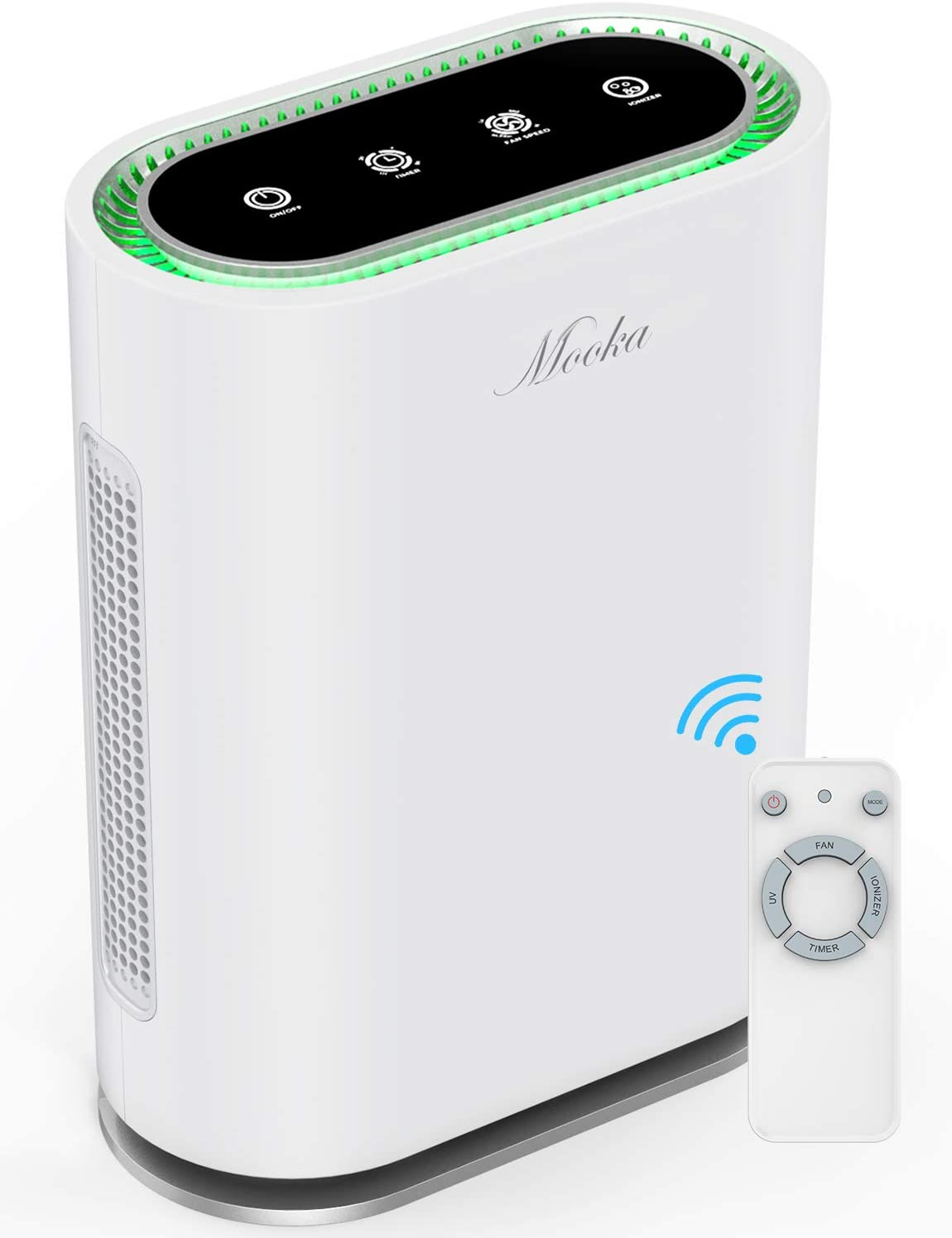 MOOKA True HEPA+ Air Purifier, Large Room to 540ft², 6-Point Filtration, Odor Eliminator for Allergies and Pets, Ionic & UV-C Sterilizer, Air Cleaner for Office & Home, Rid of Virus, Mold, Smoke, Odor