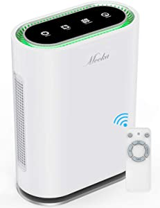 MOOKA True HEPA+ Air Purifier, Large Room to 540ft², 6-Point Filtration
