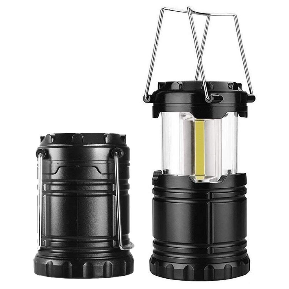 AOMEES LED Lantern COB Camp Lantern 2PCS Collapsible Tough Lamp with Magnetic Base for Camping Fishing Shed Festivals Lights