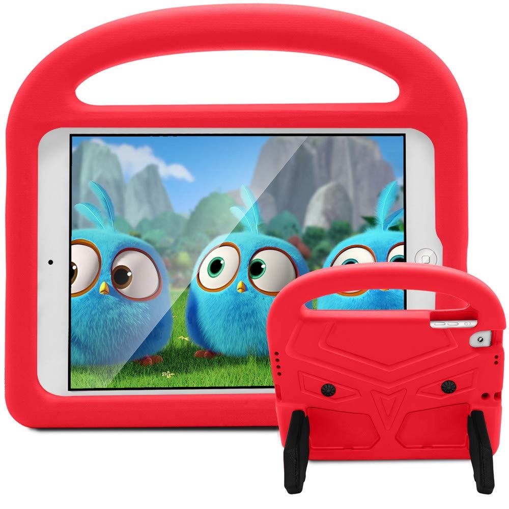 iPad 5/6/pro 9.7/iPad 2018/2017用ケース キッズ用 EVA製 落下防止 耐衝撃 キックスタンド/ハンドル付き 子供に優しい保護タブレットカバー iPad Air/Air2/pro 9.7/iPad 2018/2017-9.7インチ SP iPad 5-8 case  レッド B07LCKQBX6