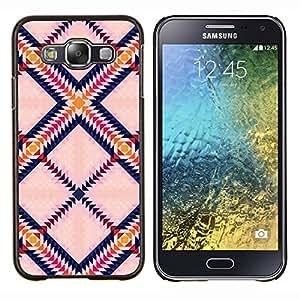 Triángulo Plaza colorido Arte- Metal de aluminio y de plástico duro Caja del teléfono - Negro - Samsung Galaxy E5 / SM-E500