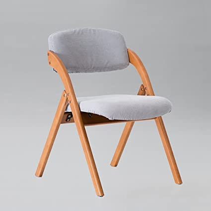 Fold Up Chairs Restaurant Coffee Chair Solid Wood Folding Chair Backrest  Creative Dining Chair Nordic Dining