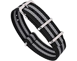 Nylon Watch Bands,OWNITOW Canvas Fabric Ballistic Nylon Watch Straps - Widths 16mm 18mm 20mm or 22mm 24mm