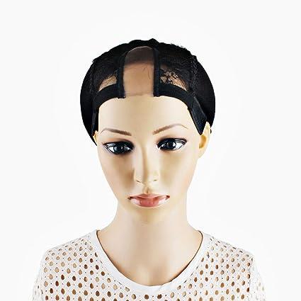 Gorras de peluca con encaje de red, gorras de peluca para hacer ...