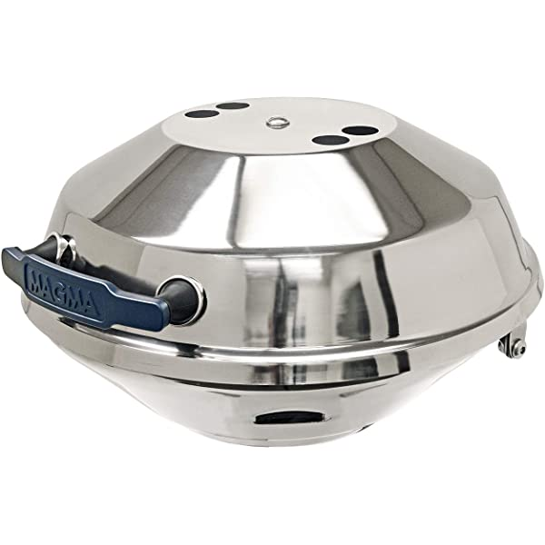 """Marine Kettle Charcoal Grill With Hinged Lid 15/"""" Diameter Magma A10104"""