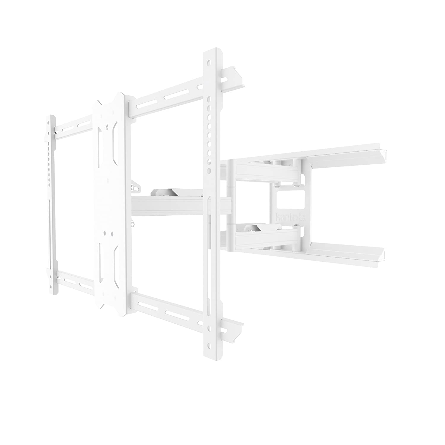Kanto PDX650W Full-Motion TV Wall Mount for 37-inch to 75-inch Flat-Screen Monitor – White