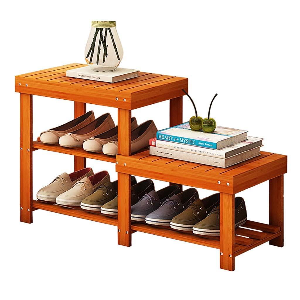 2段の木製の靴のベンチ、88cm * 28cm * 45cmの靴ラック、廊下、バスルーム、リビングルーム、廊下に最適 B07T5DJSG3