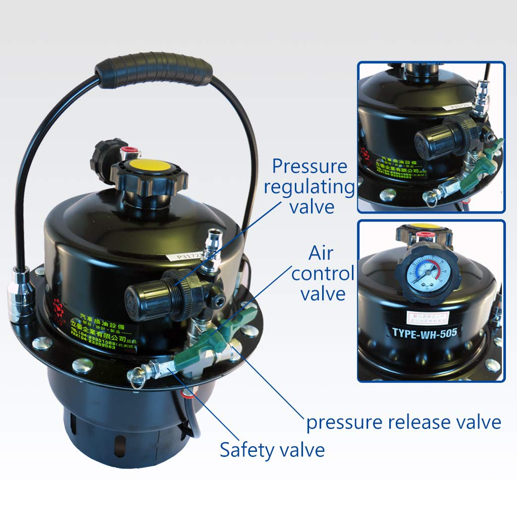 FIRSTINFO Pressure Brake Fluid Bleeder Suitable to Most ABS Brake System Made in Taiwna by FIRSTINFO TOOLS FIT YOUR NEEDS (Image #6)