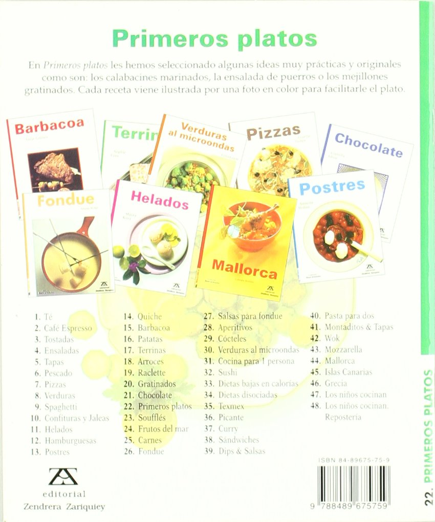 Primeros Platos: Marieluise Christl-Licosa: 9788489675759: Amazon.com: Books