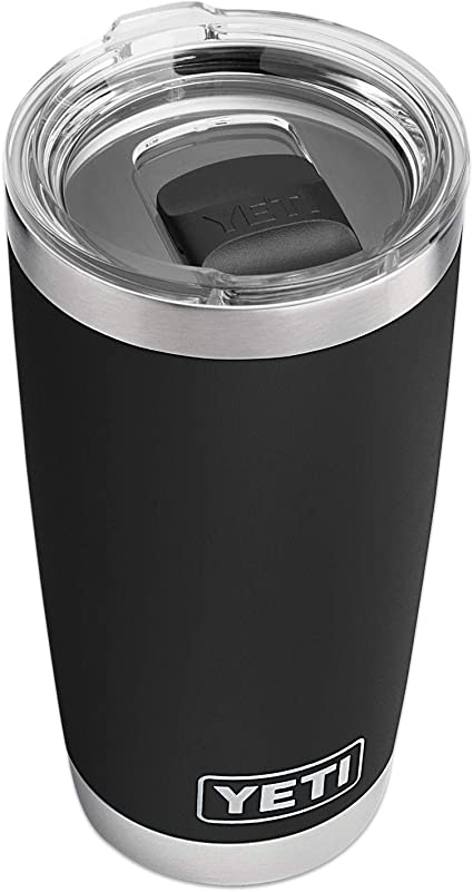 Amazon Com Yeti Rambler 20 Oz Tumbler Stainless Steel Vacuum Insulated With Magslider Lid Black