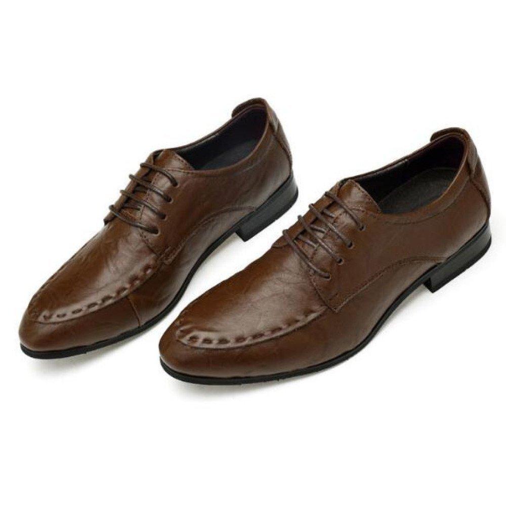 Herren Formelle Schuhe Leder Smart Kleid Arbeit Hochzeit Schwarz Büro Business Arbeit Kleid Abendgesellschaft Casual Lace up Mokassins Fahr Schuhe Coffee 79f534