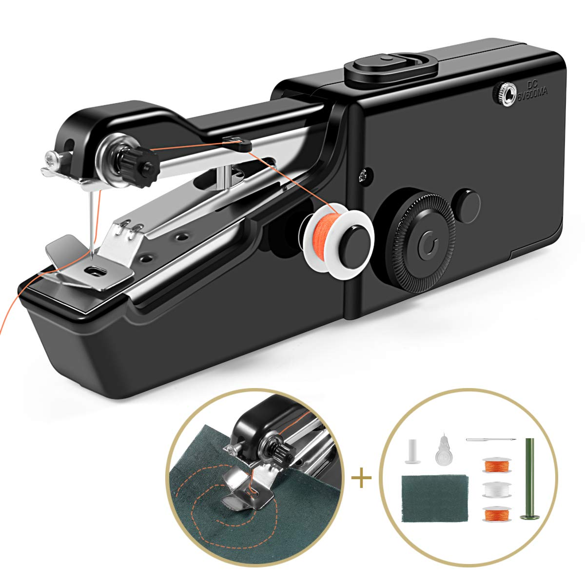 Handheld Sewing Machine Cordless Handheld Electric Sewing Machine Quick Handy Stitch for Home or Travel use