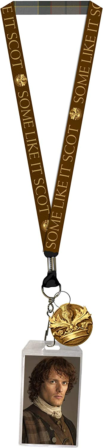 Outlander Some Like It Scot Lanyard with Clear ID Badge Holder and Rubber Charm