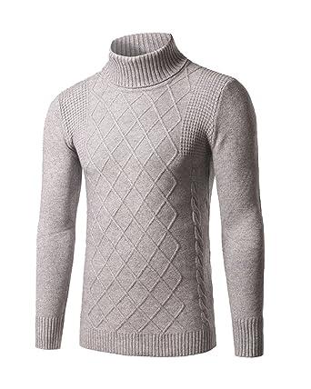 d0f2ed27044b Homme Manches Longues À Col Roulé Slim Fit Confort T-Shirts  Amazon.fr   Vêtements et accessoires