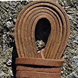 Leather Straps 2 Pieces 1/4 Wide and 72 inches long Laces That Are Great For Many Purposes by TOFL (Medium Brown)