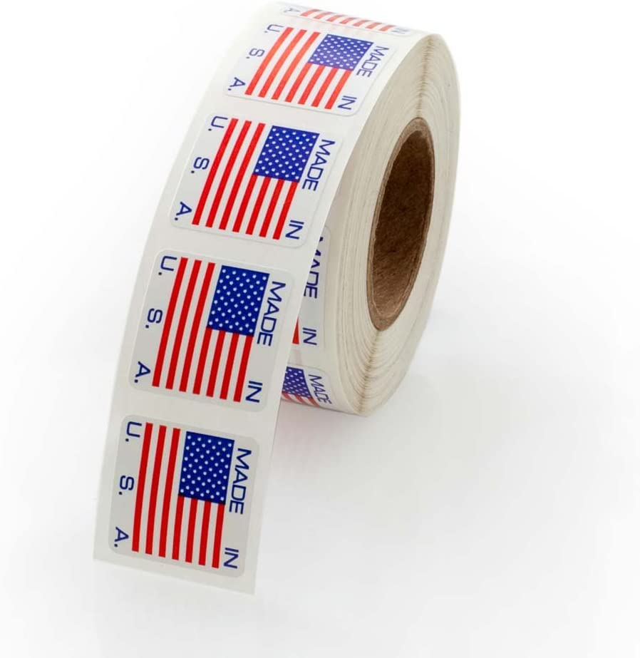 500 Labels//Stickers Per Roll Made in The USA Labels 3//4 x 3//4