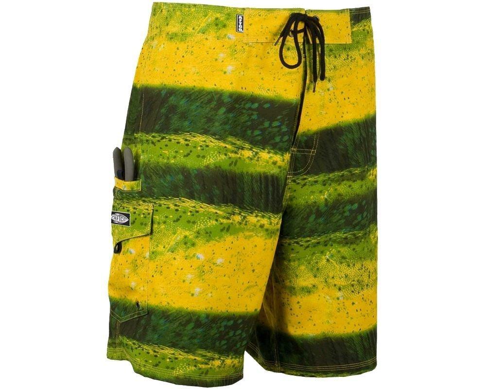 "AFTCO Dorado Boardshorts - Yellow - 28"""