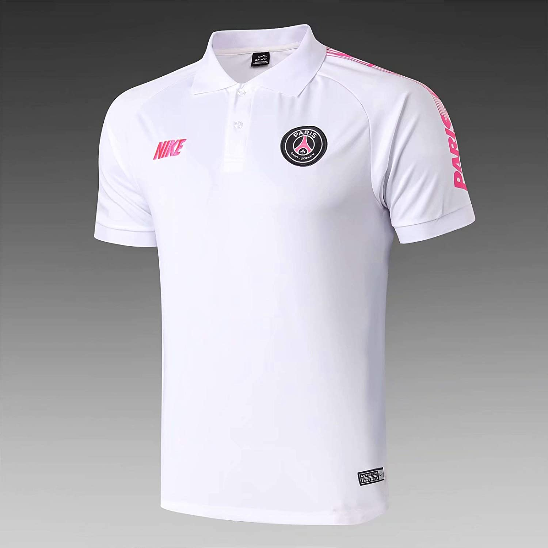 Maillot Camiseta Polo del PSG Blanco y Rosa Dri-fit Collection ...