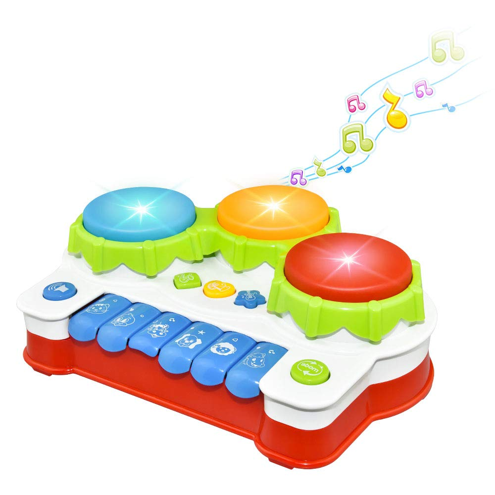 Infant Baby Toys 6 To 12 Months Musical Keyboard Piano Learning Educational Toys for 1-3 Year Old Baby Toddlers Christmas Xmas Gifts for Boys Girls Age 1-3 Stocking Stuffers for Baby Colorful DMGQ1