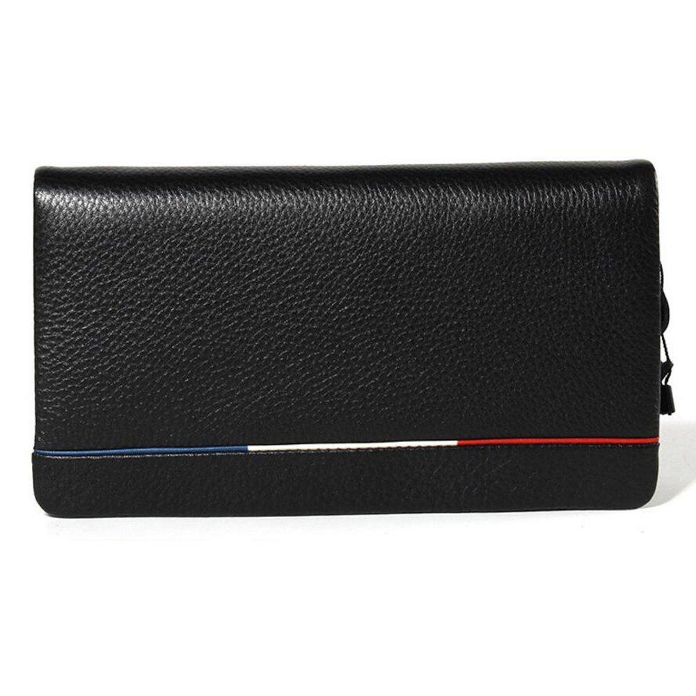 JIANFCR Herren Clutch Leder Handtaschen Große Kapazität Luxus Leder Business Lange Hand Clutch Weiche Leder Herren Geldbörse Kupplung