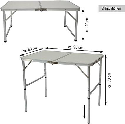 AMANKA Mesa para Acampada 90x60x70cm Incl 2 Taburetes Plegable ...